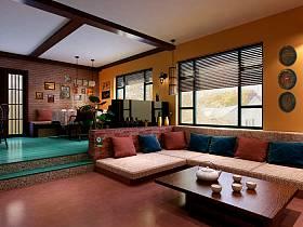 东南亚东南亚风格客厅设计案例