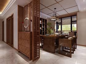 中式中式风格新中式餐厅设计案例