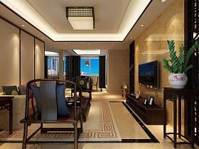 中式客厅沙发茶几设计图