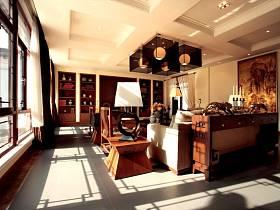 中式客廳沙發茶幾設計方案