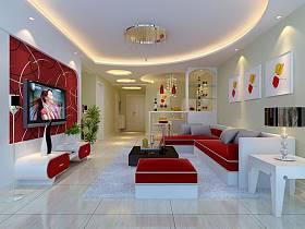 現代簡約客廳沙發茶幾設計方案