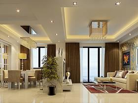 客厅吊顶沙发灯具图片