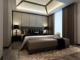 现代卧室窗帘设计案例