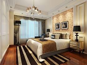 欧式卧室吊顶窗帘装修效果展示