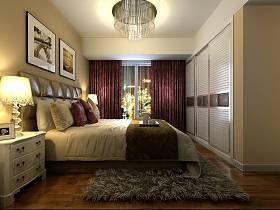 现代卧室吊顶窗帘装修案例
