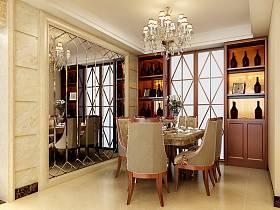 歐式餐廳吊頂酒柜設計案例