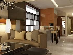 现代客厅吧台设计图