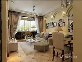 混搭客厅窗帘设计案例展示