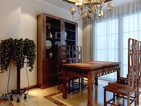 中式餐厅窗帘设计方案