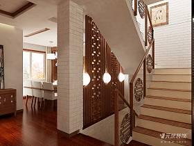 中式过道复式楼楼梯图片
