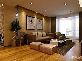 现代客厅窗帘装修图