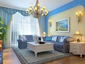 木桌*木椅*木扶梯,新绿*天蓝*象牙白,小资情侣精巧别墅,情迷地中海