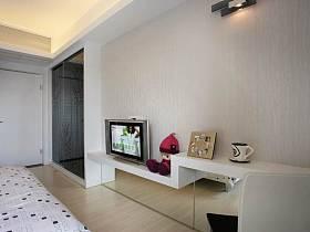 现代现代风格卧室电视墙效果图