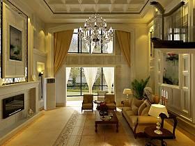 欧式欧式风格客堂复式楼设计筹划