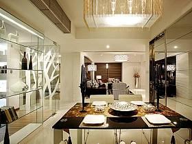 現代餐廳吊頂酒柜設計案例展示
