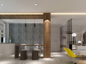 简约餐厅单身公寓吊顶装修效果展示