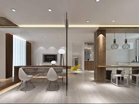 簡約餐廳單身公寓吊頂裝修案例
