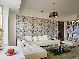 现代现代风格客厅背景墙沙发客厅沙发装修案例