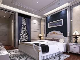 现代卧室三室两厅两卫装修案例