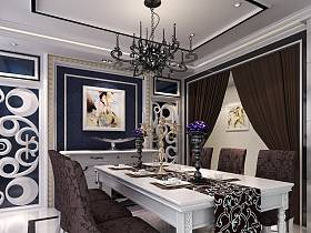 現代餐廳三室兩廳兩衛吊頂設計圖