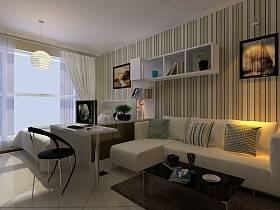 现代客厅单身公寓装修图