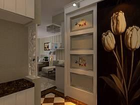 现代玄关单身公寓玄关柜图片
