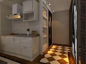 现代厨房单身公寓设计案例