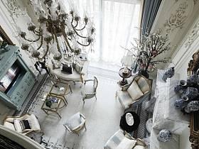法式法式风格客厅吊顶装修案例