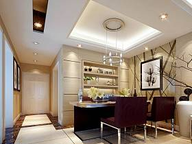 现代简约餐厅吊顶设计案例展示
