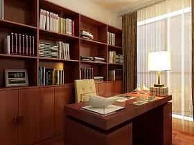 中式书房装修图