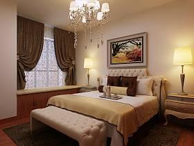 中式中式风格新中式卧室装修图