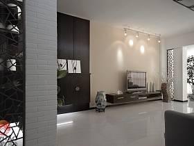 中式客厅玄关电视柜玄关柜设计案例
