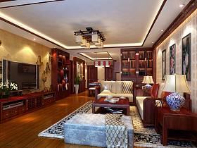 中式中式风格客厅设计案例展示