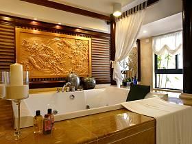 中式衛生間浴室效果圖