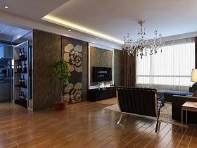 歐式客廳吊頂電視背景墻效果圖