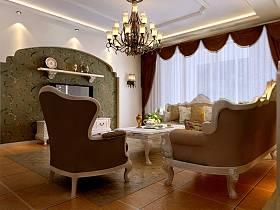 欧式客厅别墅电视背景墙装修图