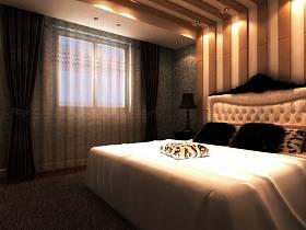 歐式臥室窗簾設計案例