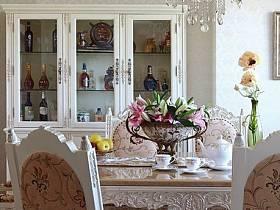 欧式餐厅吊顶酒柜设计案例展示