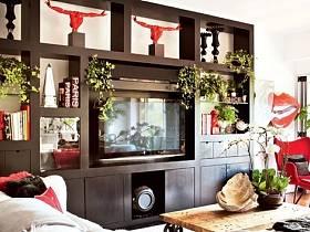 客廳沙發茶幾組合柜設計方案