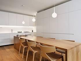 清新吧台餐桌实木餐桌餐桌椅实木餐桌椅椅木地板装修图