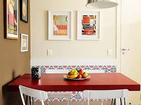 簡約餐桌椅折疊椅裝修效果展示