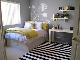 簡約時尚臥室壁紙設計圖