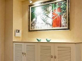 美式玄關吊頂玄關柜柜子射燈設計方案