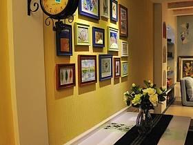 玄關榻榻米樓梯餐桌折疊餐桌玄關柜裝修效果展示