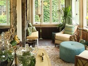 阳台沙发植物单人沙发装修案例