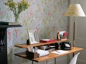 清新書房植物壁紙效果圖