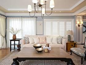 美式清新自然現代客廳沙發客廳沙發裝修圖