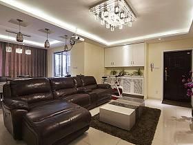 客厅餐厅厨房沙发水晶吸顶灯设计案例展示