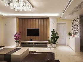 客厅背景墙电视背景墙壁纸客厅吸顶灯设计案例展示