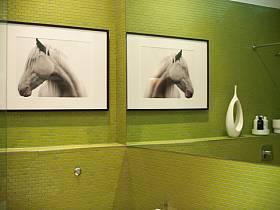 清新背景墙卫浴设计案例展示